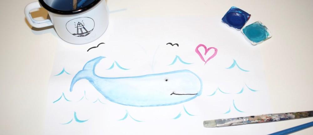 So sollte es eigentlich sein, dicke Pottwale glücklich im Meer